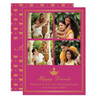 Diya Diwali Greeting Card - Custom Color カード