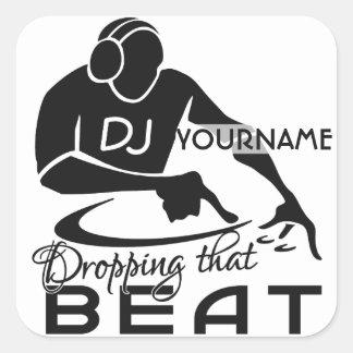 DJのカスタムのステッカー スクエアシール