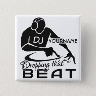 DJのカスタムボタン 缶バッジ