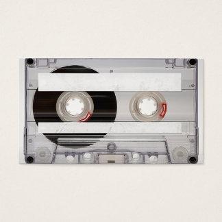 DJのカセットテープの名刺のテンプレート 名刺