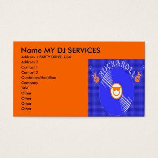 DJのサービス業カード 名刺