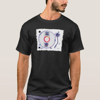 DJのターンテーブル(白い) Tシャツ