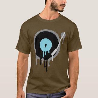 DJのビニールのTurnableのティー Tシャツ