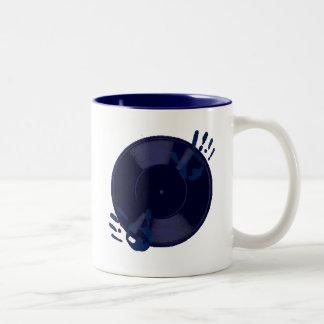 DJのビニール ツートーンマグカップ