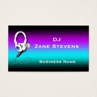 DJのヘッドホーンのマイクロフォンの名刺のテンプレート 名刺