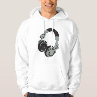 DJのヘッドホーン パーカ