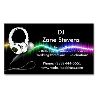 DJのマイクロフォンのヘッドホーンの名刺の磁石 マグネット名刺
