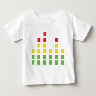djの健全な可聴周波平衡装置 ベビーTシャツ