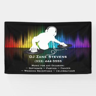 DJの回転のビニールの旗 横断幕