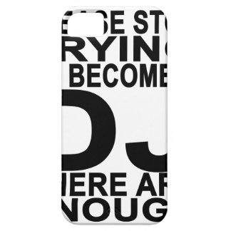 DJの女性のTシャツになることを試みることを止めて下さい iPhone SE/5/5s ケース
