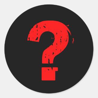 DJの質問ステッカー ラウンドシール