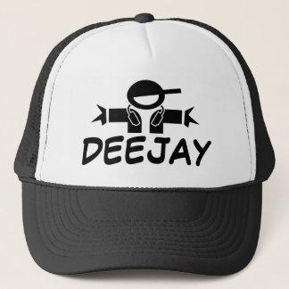 DJの身に着けているヘッドホーンが付いているDJの帽子|の帽子 キャップ