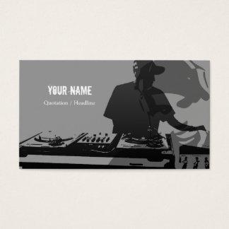 DJの音楽業界カード 名刺