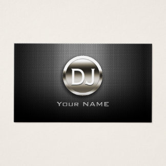 DJのDJの鋼鉄モノグラムのモダンの金属 名刺