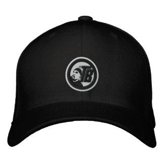 DJトニーBadeaの黒い野球帽 刺繍入りキャップ
