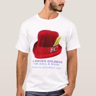 DJロミオケルンの赤い帽子のTシャツ Tシャツ