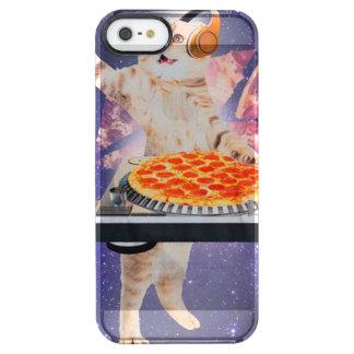 dj猫-猫dj -宇宙猫-猫ピザ クリア iPhone SE/5/5sケース