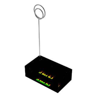 DJ音楽黒のビートからの平衡装置の感情 テーブルカードホルダー