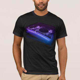 DJ 3DのネオンターンテーブルのTシャツ Tシャツ