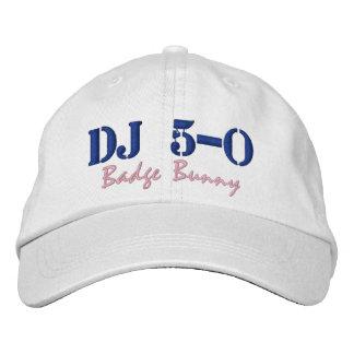 "DJ 5-0の球の帽子""バッジバニー"" 刺繍入りキャップ"