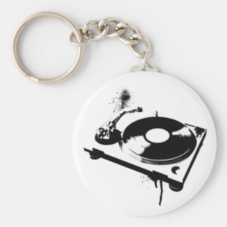 DJ DJのターンテーブルのKeychain |の家音楽ギフト キーホルダー