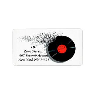 DJ DJのディスクジョッキーのレコード ラベル