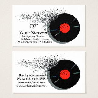 DJ DJのディスクジョッキーのレコード 名刺