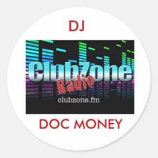 DJ DOCのお金のラップトップのデカール ラウンドシール