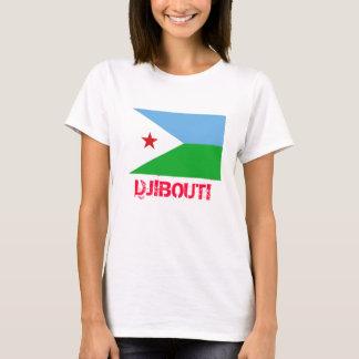 DJIBOUTI*-旗および頂上のTシャツ Tシャツ