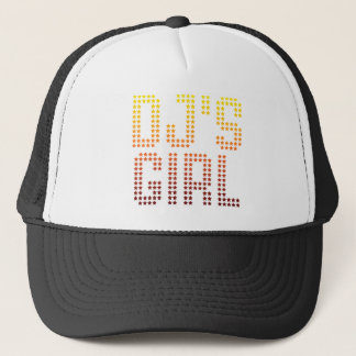 DJsの女の子-ディスクジョッキーのガールフレンドの妻のDJing音楽 キャップ