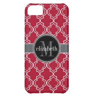 Dkの果実の赤く黒いモロッコのクローバーのモノグラム iPhone5Cケース