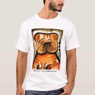 dk_2008mar16f、Shar Pei - www.pugcasso.com Tシャツ