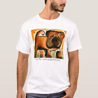 dk_2008may25e、Shar Pei - www.pugcasso.com Tシャツ