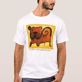 dk_2009aug2b、Shar Pei - www.pugcasso.com Tシャツ