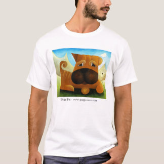 dk_2009july13a、Shar Pei - www.pugcasso.com Tシャツ