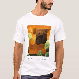 dk_2009july13c、Shar Pei - www.pugcasso.com Tシャツ