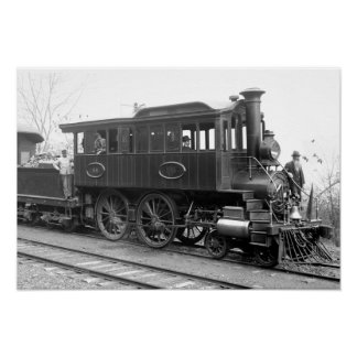 DL+ Wの蒸気の点検機関車 ポスター