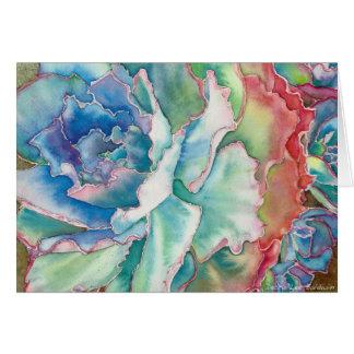 DLBによるEcheveriaの波立たせられた水彩画 カード