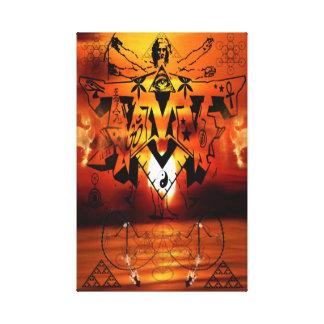 DMTの精神的な落書きCANVAS-ILLUMINATION キャンバスプリント