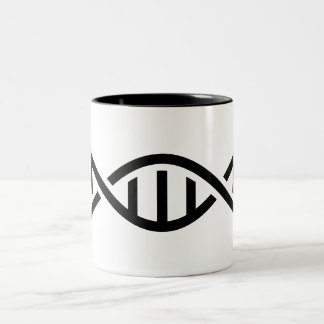 DNAのピクトグラムのマグ ツートーンマグカップ