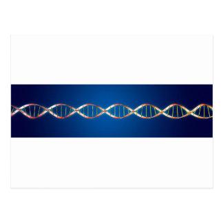 DNAの二重螺旋 ポストカード