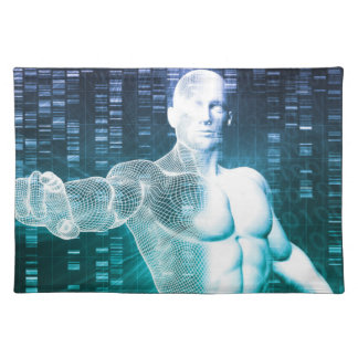 DNAの科学者エンジニアとの医学の技術 ランチョンマット