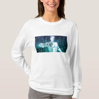 DNAの科学者エンジニアとの医学の技術 Tシャツ