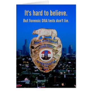DNAテストはありません! 父の日のため カード