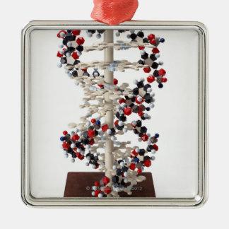 DNAモデル シルバーカラー正方形オーナメント