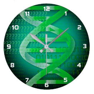 DNA IDの緑 ラージ壁時計