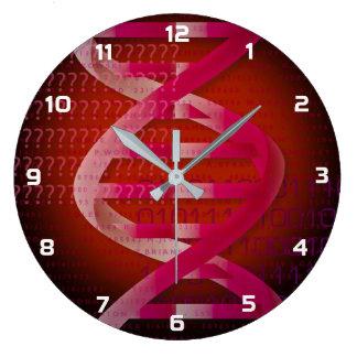 DNA IDの赤 ラージ壁時計