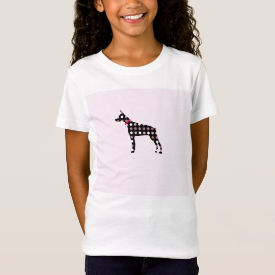 Doberman Dots Pattern Tシャツ