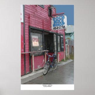 DOCのバイクの店、Stockton、カリフォルニア ポスター