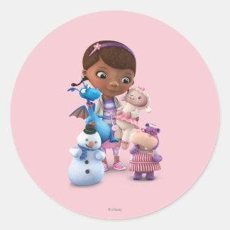 DOC McStuffinsおよび彼女の動物の友人 ラウンドシール